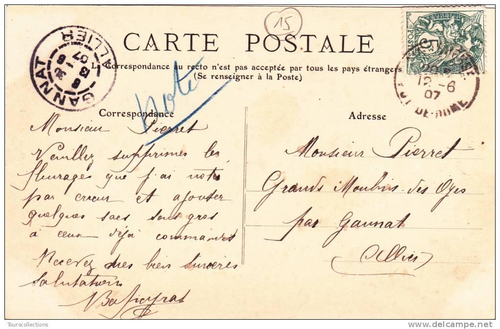 CPA 15 - Cantal @ ATTELAGE AUVERGNAT N° 2625 De MTIL @ Boeufs Salers Accouplés Devant La Cascade - France