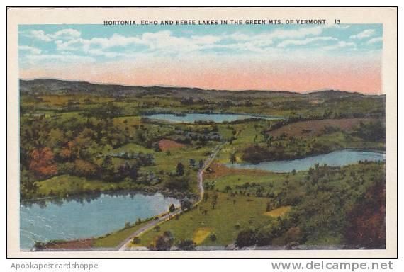 Vermont Green Mountains Hortonia Echo And Bebee Lakes In The Green Mountains Of Vermont - United States