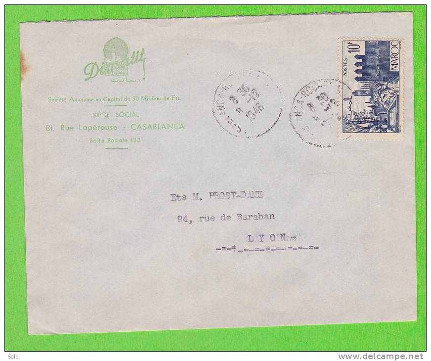 Sur Env. En-Tête DIMATIF à Casablanca - MAROC - 1 Timbres - Morocco (1956-...)