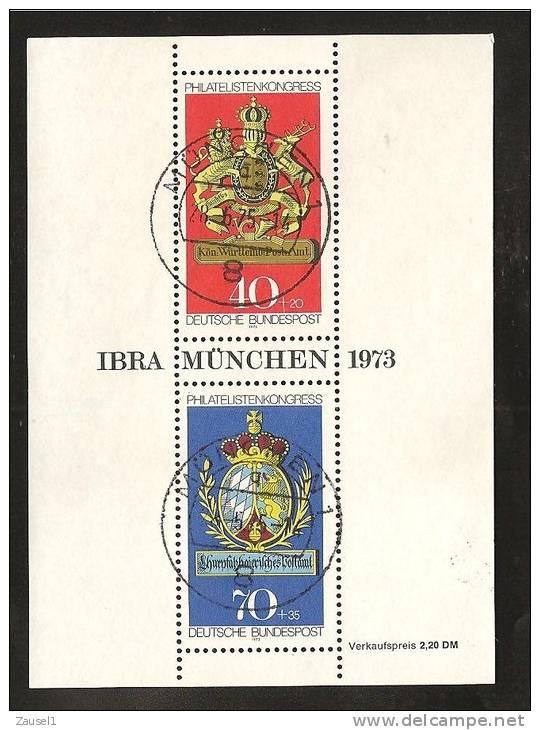 Block 9 - 1973 Mit Bedarfsstempel - BRD