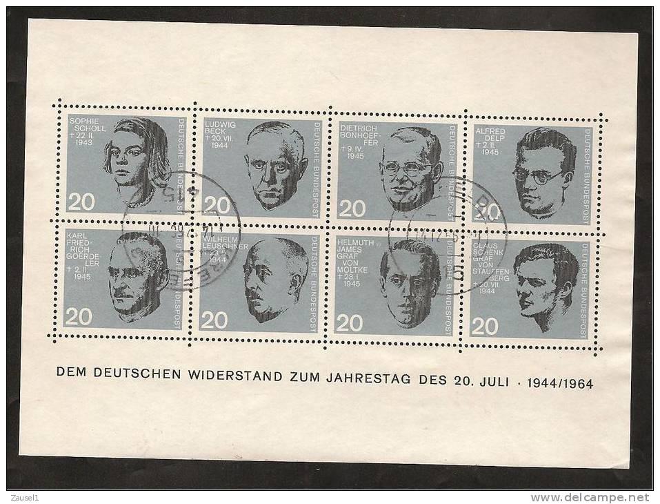 Block 3 - 1964 Mit Tagesstempel, Bedarf - BRD