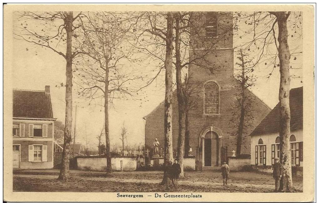Seevergem - De Gemeenteplaats. - De Pinte