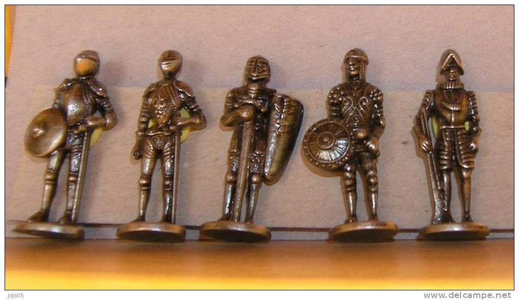 RARE  Série 5 Guerriers Antiques, Manque Le Premier, Eisen - Figurines En Métal