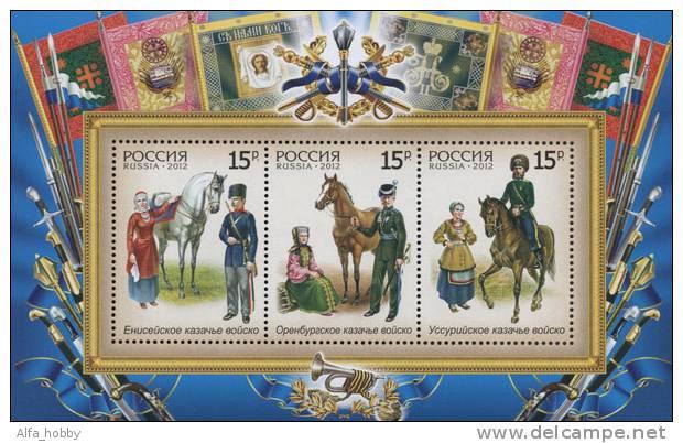 Russia, 2012,  Kazaks, Horses, S/s - 1992-.... Federatie