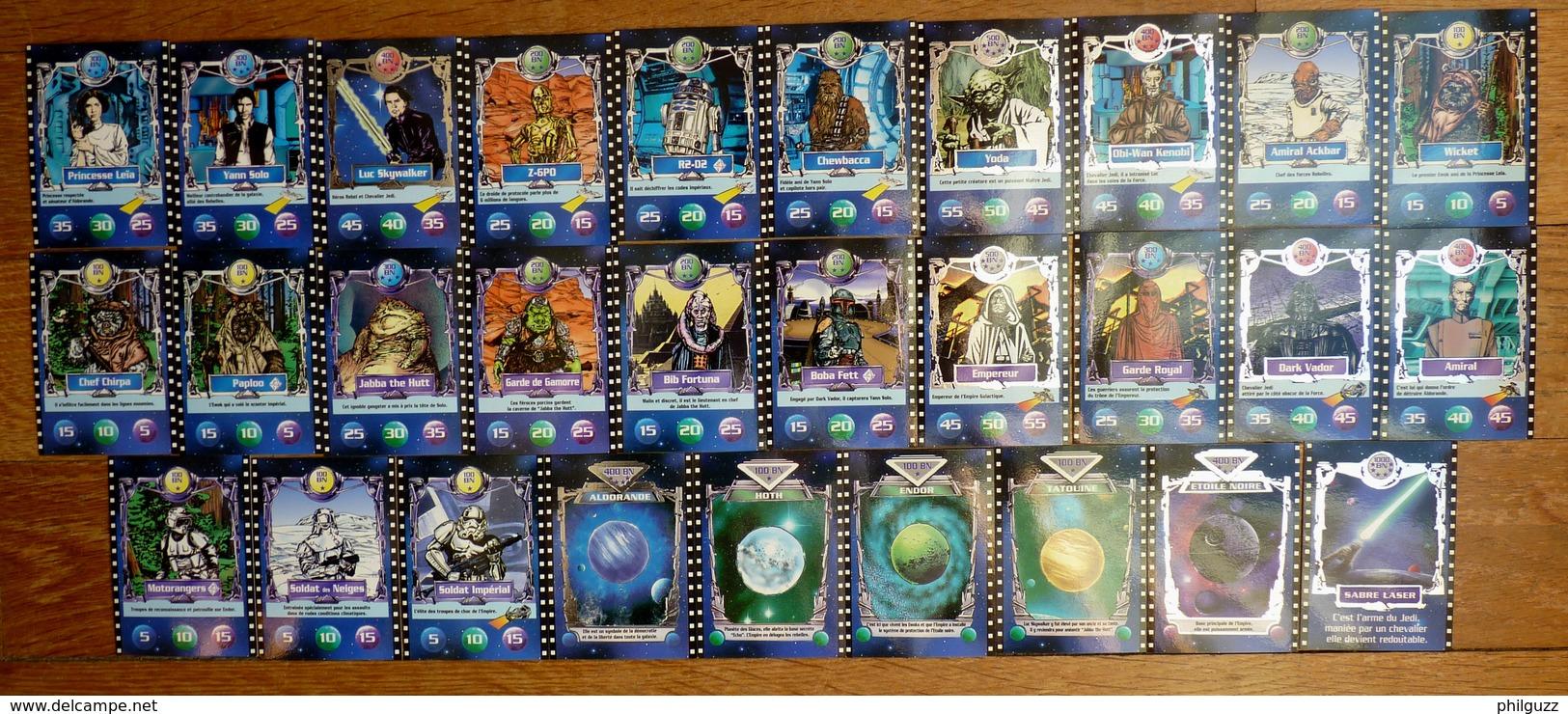 SERIE DE 29 CARTES DIFERENTES BN STAR WARS - 2ème Série 1996 - First Release (1977-1985)