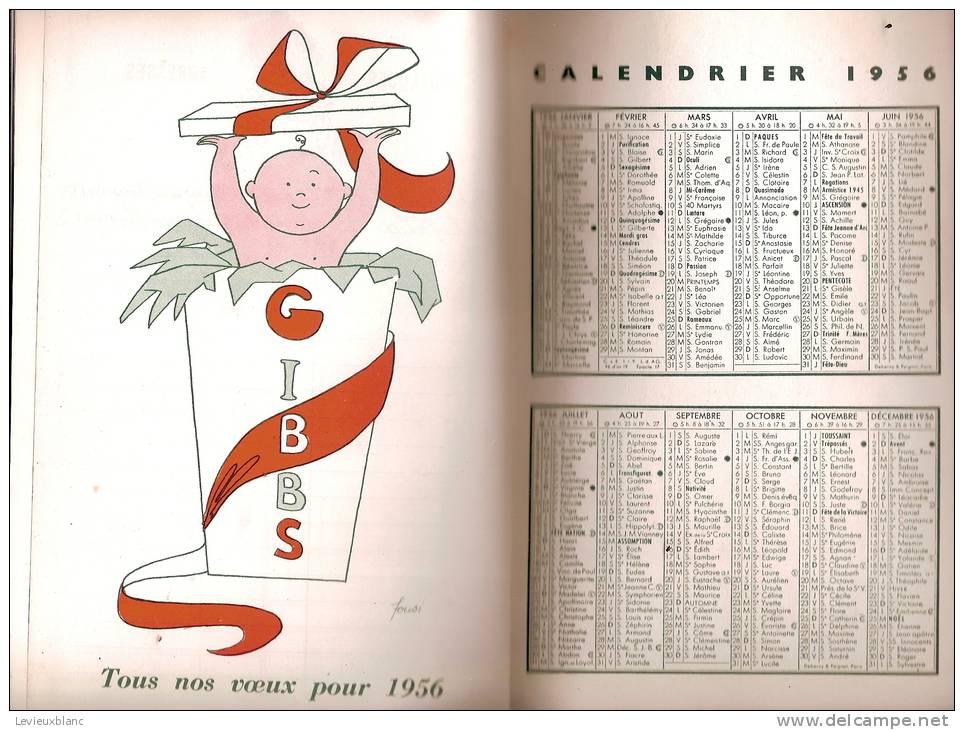Grand Agenda/Hygiéne/dentifrice S-Brosses à Dents Et Rasoirs/GIBBS/Paris/1955                PARF36 - Parfums & Beauté