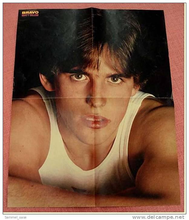 Poster  Gruppe Teens  -  Rückseitig Matt Dillon -  Ca. 39,5 X 52 Cm  -  Von Bravo Ca. 1982 - Plakate & Poster