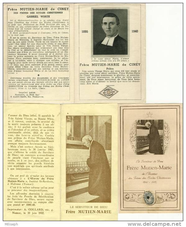 3 Images Religieuses - Frère Mutien Marie De Ciney - Institut Des Frères Des Ecoles Chrétiennes   (2534) - Godsdienst & Esoterisme