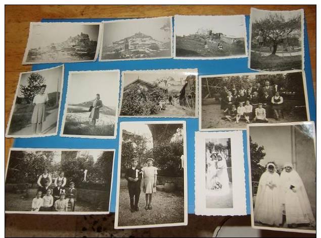 12 Photos Originales Anciennes 84 VAUCLUSE ENTRECHAUX Legende Date Au Dos - France