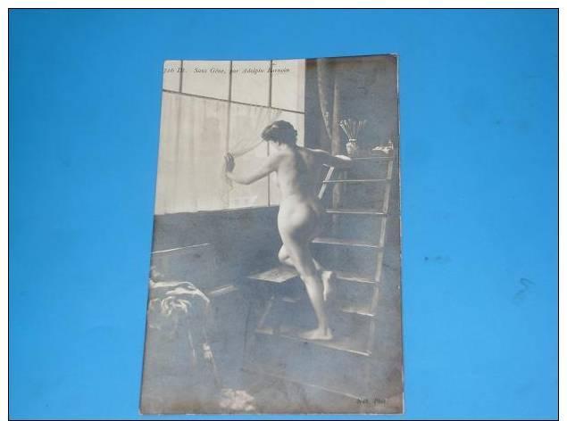 CPA Carte Photo Femme NUE Seins Nus - Nus Adultes (< 1960)