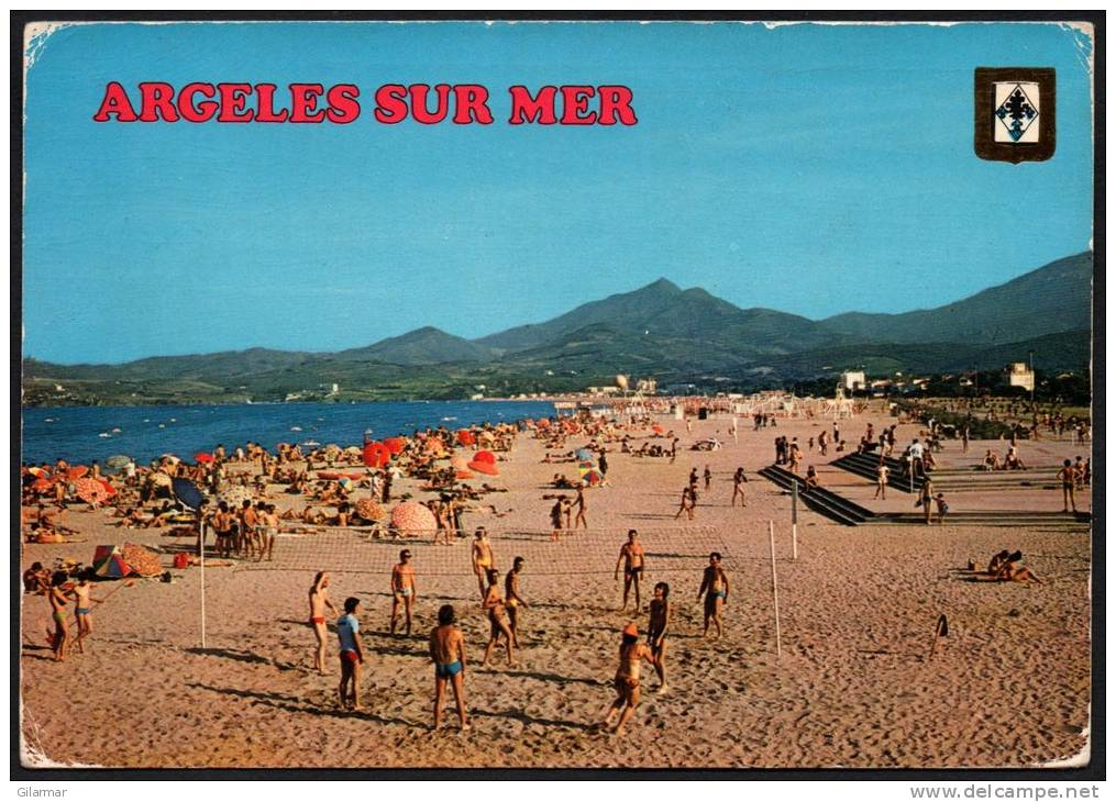 FRANCIA - ARGELES SUR MER - LA PLAGE - BEACH VOLLEY - CARTOLINA VIAGGIATA - Volleyball