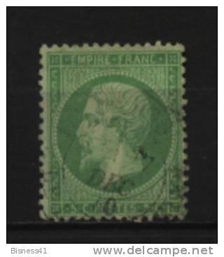 France   N°  20 Oblitéré Cote 12 € Au Quart De Cote - 1862 Napoleon III