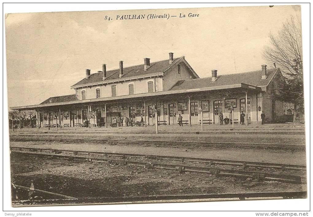 34/ PAULHAN - La Gare - (interieur) - Paulhan