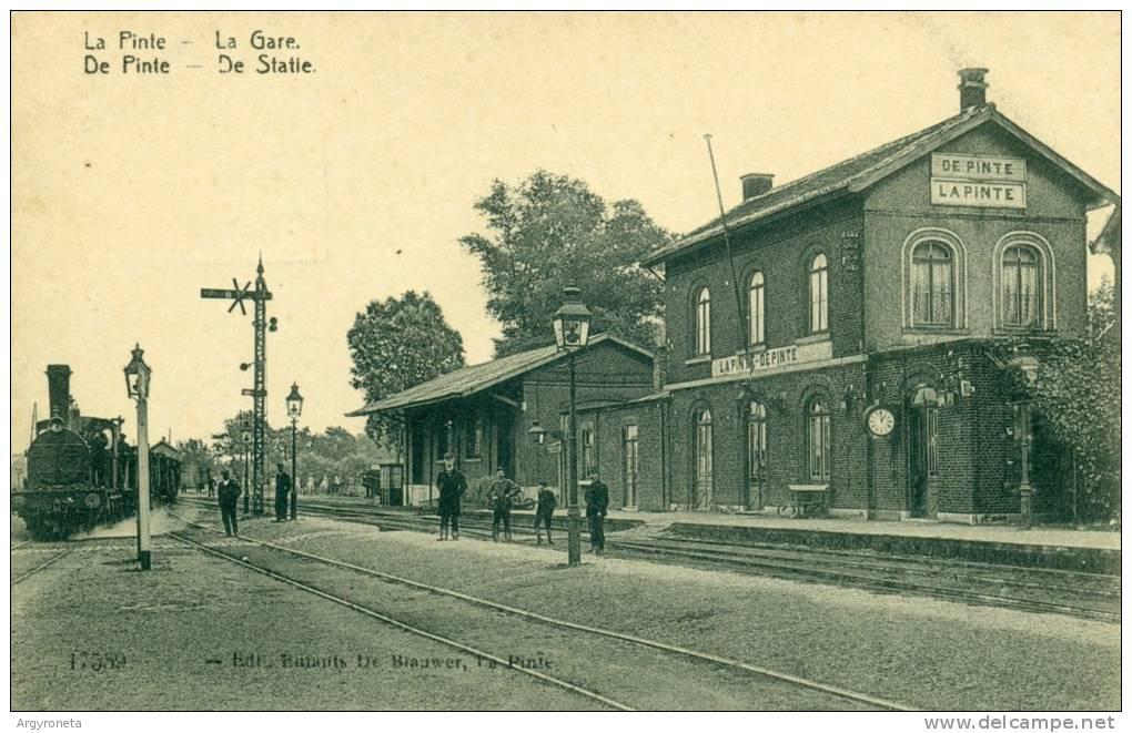 De Pinte - De Statie - La Gare - Stoomtrein - Train Vapeur - De Pinte