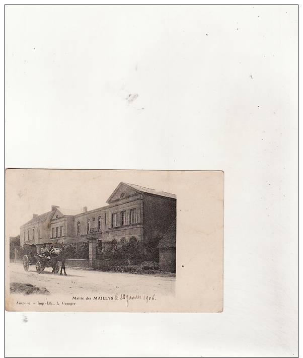 LES MAILLYS-La Mairie  En 1906(animée ,attelage) - Autres Communes
