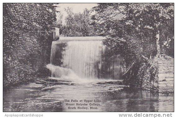 Massachusetts South Hadley The Falls At Upper Lake Mount Holyorke College Alb...