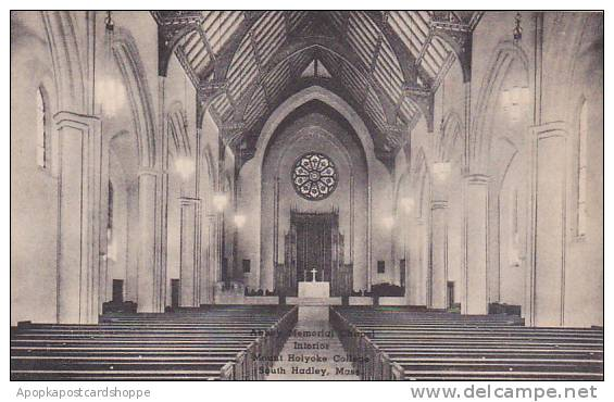 Massachusetts South Hadley Abbey Memorial Chapel Interior Mount Holyoke Colle...