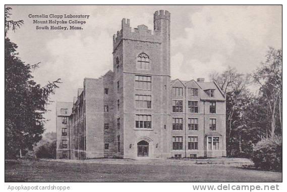 Massachusetts South Hadley Cornelia Clapp Laboratory Mount Holyoke College Al...