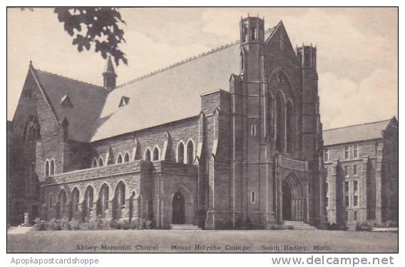 Massachusetts South Hadley Abbey Memorial Chapel Mount Holyoke College Albertype