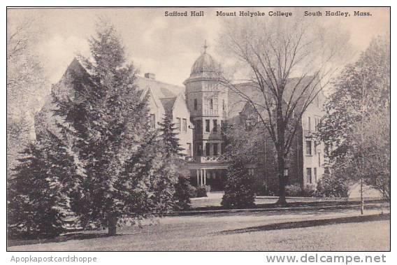 Massachusetts South Hadley Safford Hall Mount Holyoke College Albertype