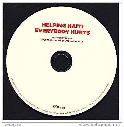"""Musik Maxi CD - """"Everybody Hurts"""" Von Helping Haiti Mit Jon Bon Jovi , Kylie Minogue , Leona Lewis - Sonstige - Englische Musik"""