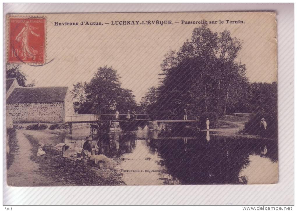 71 LUCENAY-l'ÊVEQUE Passerelle Sur Le TERNIN - Francia