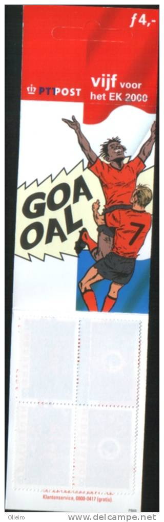 Olanda Pays-Bas Nederland Netherlands 2000 Sport Football Soccer Carnet Europei Di Calcio ** MNH - Libretti