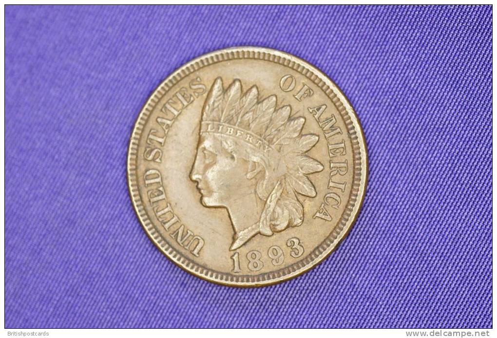 USA - Indian Head Cent - 1893 - Federal Issues
