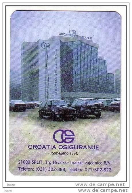 CROATIA INSURANCE ( Croatian Small Calendar ) VW Volkswagen Golf Assurance Versicherung Assicurazione Petit Calendrier - Calendars