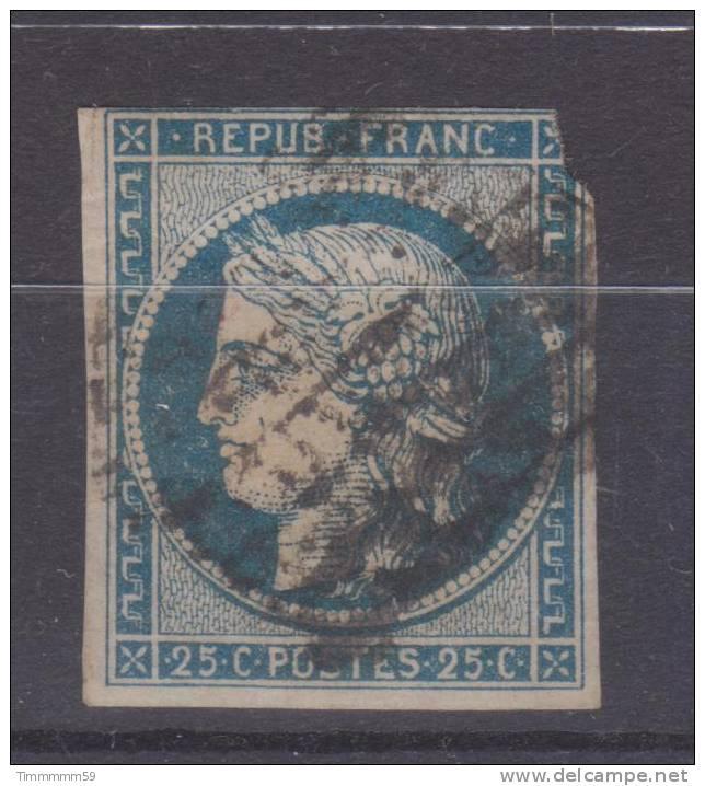 Lot N°18648   N°4a Bleu Foncé, Oblit Grille De 1849, - 1849-1850 Ceres