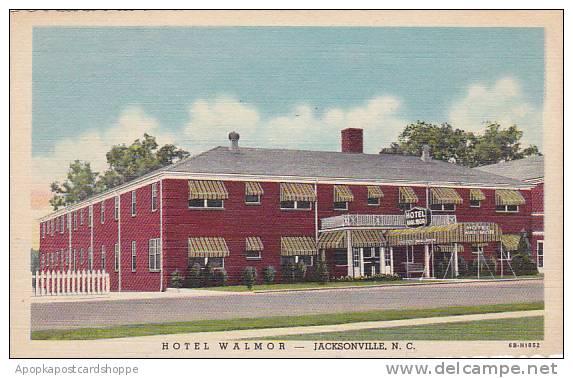North Carolina Jacksonville Hotel Walmor Albertype