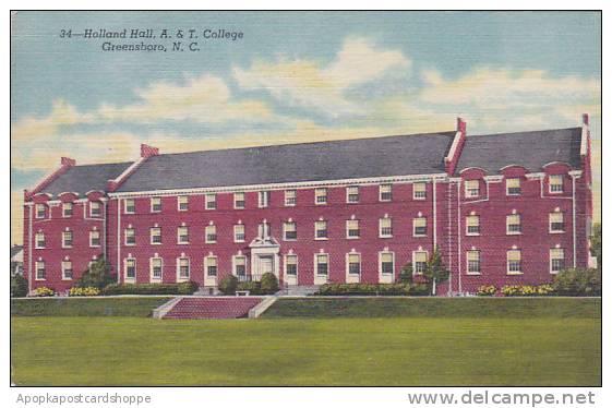 North Carolina Greensboro Holland Hall A & T College Albertype