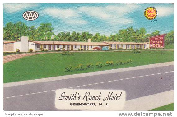 North Carolina Greensboro Smiths Ranch Motel Albertype