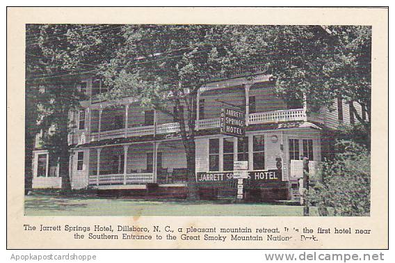 North Carolina Dillsboro The Jarrett Springs Hotel A Pleasant Mountain Retrea...