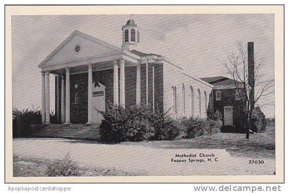 North Carolina Fuquay Springs Methodist Church Albertype