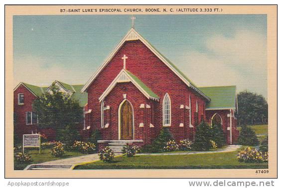 North Carolina Boone Saint Lukes Episcopal Church Albertype