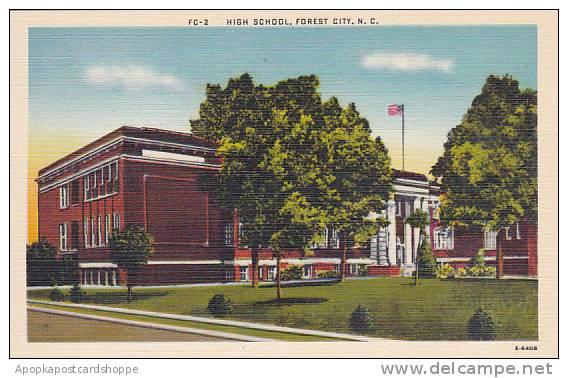 North Carolina Forest City High School Albertype