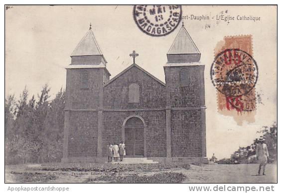 Madagascar Fort Dauphin L'Eglise Catholique 1905 - Madagascar
