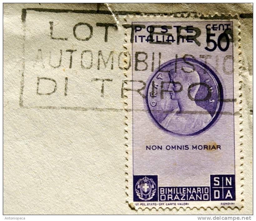 ITALIA 1936 - BIMILLENARIO ORAZIO 50 CENT. VIAGGIATA - Storia Postale