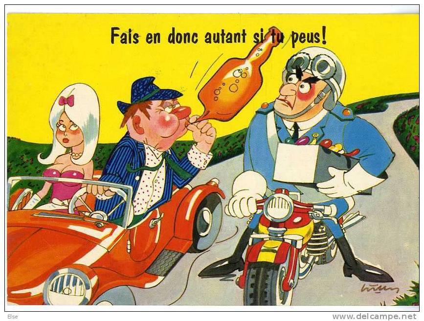 POLICE  CARTE  FANTAISIE   FAIS EN DONC AUTANT SI TU PEUS ! - Police - Gendarmerie