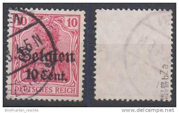 Belgien,14bZa,gestempelt,gep. - Besetzungen 1914-18