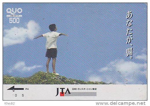 Carte Prépayée Japon - AVIATION - JAL - JTA AIRLINES - Japan Prepaid Card - Airplane Flugzeug Quo Karte - Avion 282 - Avions