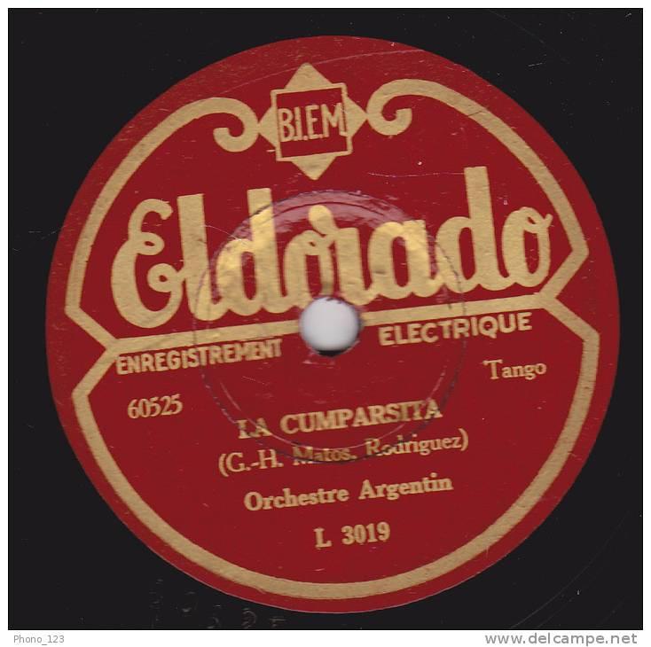 78 Tours - Eldorado L 3019 . Orchestre Argentin - LUNA DE MIEL - LA COMPARSITA - 78 Rpm - Schellackplatten