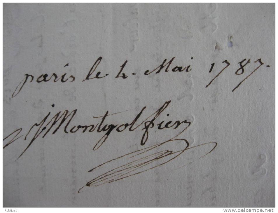 Rarissime. Jean-Pierre Et Joseph Montgolfier L´Inventeur De L´aerostat . Ordre De Change. 21 Avril 1787. - Autographes