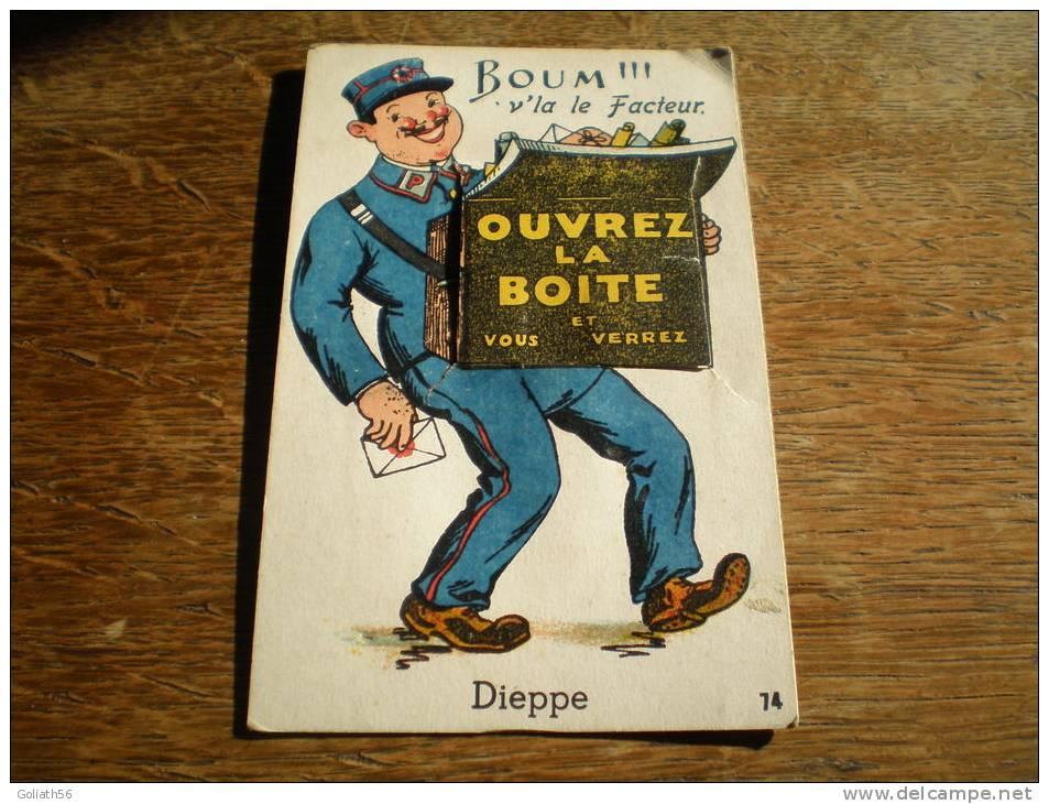 CPA De Dieppe à Système  - Ouvrez La Boite Et Vous Verrez - Boum V´la Le Facteur - 10 Vues - N°74 - A Systèmes