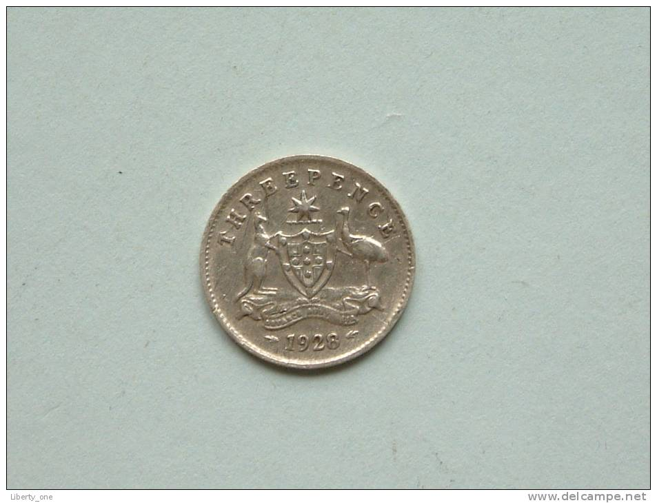 3 PENCE 1928 / KM 24 ( Uncleaned Coin / For Grade, Please See Photo ) !! - Non Classés