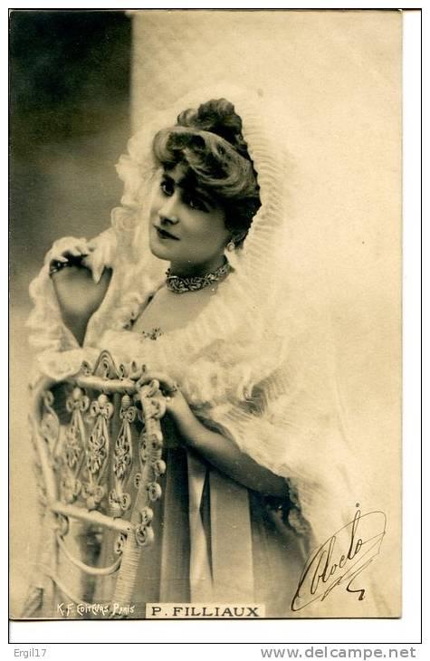 CHAPEAUX - Mode - Paulette FILLIAUX - Comédienne - Déjazet, Vaudeville, Cluny - Très Vaporeuse - KUNZLI - Théâtre