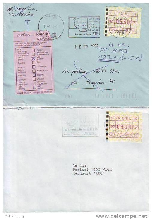 971w6: Österreich FRAMA- ATM Bedarfspost - ATM - Frama (vignette)
