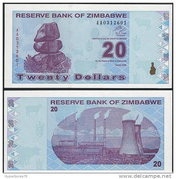 Zimbabwe P 95 - 20 Dollars 2009 - UNC - Zimbabwe