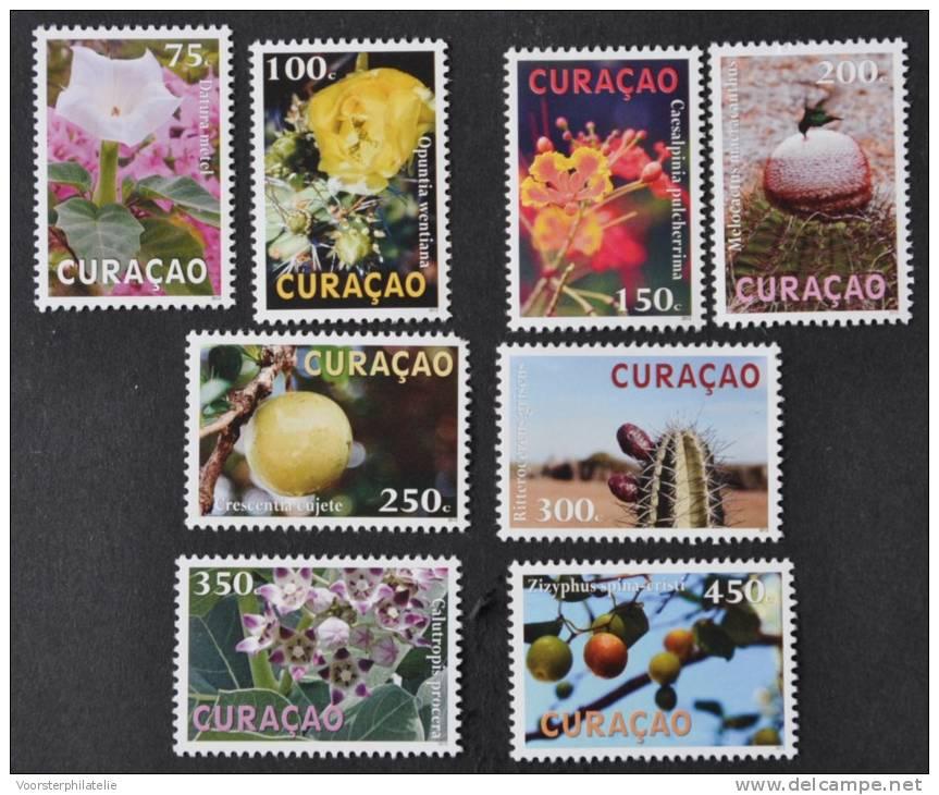 CURACAO 2012 ++  SERIE  ++ FLORA FLEUR FLOWER KOLIBRIE BIRDS OISEAU   MNH POSTFRIS ** - Curacao, Netherlands Antilles, Aruba
